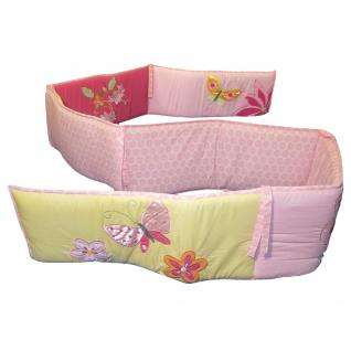 Pink Girl Baby Crib Bedding   Unique Flower and Butterfly Discount