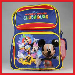 Disney Mickey Mouse Club House 15 Backpack School Boys