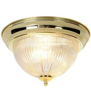 AF Lighting 671677 Halophane Dome Ceiling Fixture, Polished Brass, 13