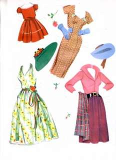 WEDDING Paper Dolls Reproduction 1950s Heres the Bride