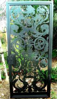 CONTEMPORARY METAL GATE ON SALE IRON GARDEN ESTATE MODERN LEAF PICKET