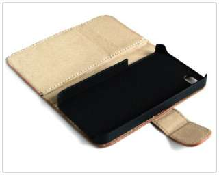 Wallet Leather Case Credit ID Card slot Holder Cover Pouch F iPhone 4