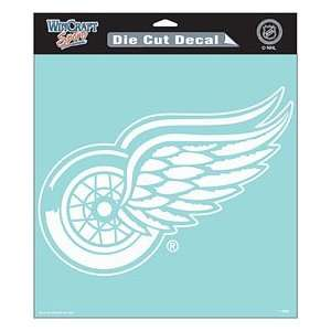 Detroit Red Wings Die Cut Decal   8x8 White Sports