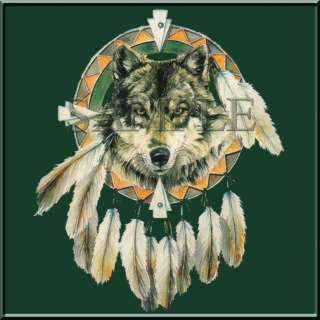 The Wolf Dreamcatcher Native American Indian T Shirt S XL,2X,3X,4X,5X