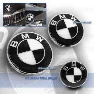 BMW E90 06 Up 3 Series Hood Trunk Roundel Steering wheel Emblem Black