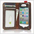 New Deluxe Fashion Luxury BookBook Leather Wallet Case for iPhone 4 4S