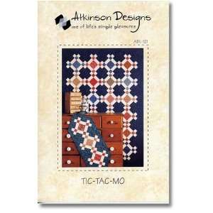 Tic Tac Mo Quilt and Table Runner Patterns