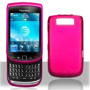 Blackberry 9800 Torch Rubber Hot Pink Case Cover Protector