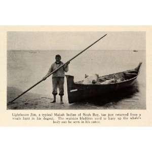 1931 Print Washington Neah Bay Makah Native American Primitive