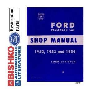 1952 1953 1954 FORD Car Shop Service Manual Book CD
