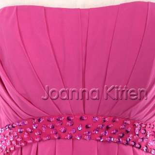 2012 Long Strapless Sweetheart Chiffon Evening Prom Dress Party