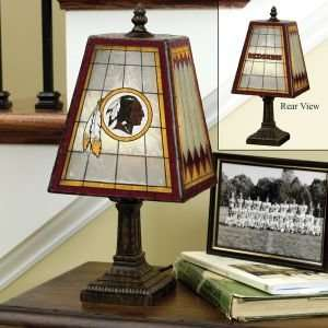Washington Redskins Glass Table 14 Lamp