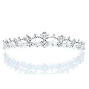 Wedding Rhinestone Crystal Beads Flower Prom Crown Tiara Beauty