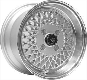 Enkei 92 Enkei92 Wheel Rim 15X8 4X100 +25mm Offset SILVER W/ MACHINED