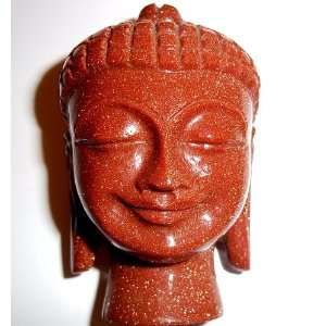 3 Goldstone Buddha Copper Glass God Figure Crystal
