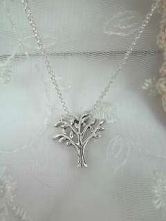 Popular Design Tree Necklace Silver Tone Gift Card