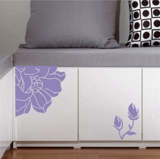 Magnolia Flower Decor Mural Art Wall Sticker Decal Y334 (various