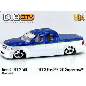 Dub City 164 Scale 2003 Blue /White Ford F 150 Supercrew