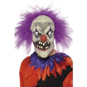 SmiffyS Evil Clown Latex Mask: Toys & Games