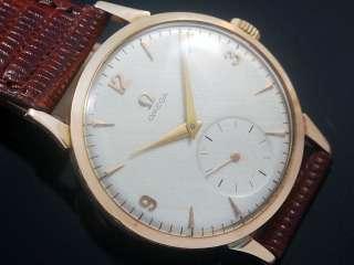 Omega 18K Solid Pink Gold Vintage Mens Watch 1954