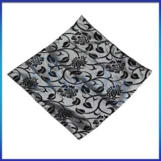 17 Black Flocking Floral Throw Pillow Case Cushion Cover Pillow Slip