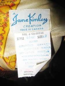 JANE KINLEY Quilted Funky RETRO MAXI Hippie Boho Dress, Size 12