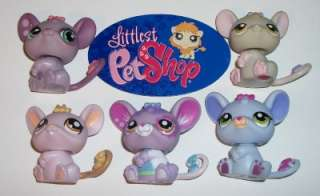 Littlest Pet Shop~BABY RAT/MOUSE FAMILY~Lot Y37