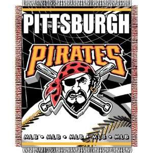 Pittsburgh Pirates Major League Baseball Woven Jacquard Throw Sports