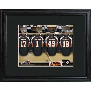 Personalized Philadelphia Flyers Locker Room Print Sports
