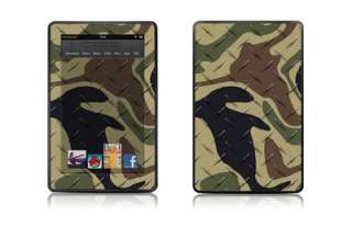 Kindle Fire Protective Skin Decal Cover Green Black Brown Camo