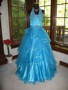 Ocean Blue Perfect Angels 1300 Stunning Pageant Gown 6