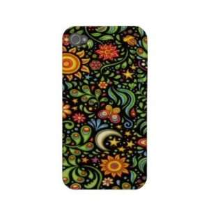 Abstract Yellow Flower Garden Case mate Iphone 4 Cases