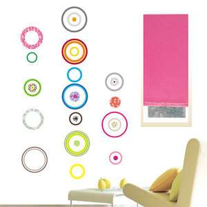 COLOR CIRCLE DECALS MURAL WALL PEEL DECOR STICKER