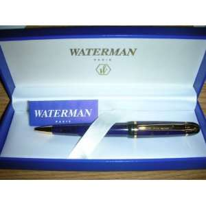 Waterman Phileas Ballpoint Pen Purple Marbled with 23 Kt Gold New in