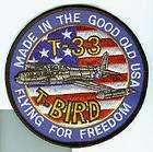 LOCKHEED T 33 T BIRD USAF SQUADRON PATCH ATC FFF TFTS