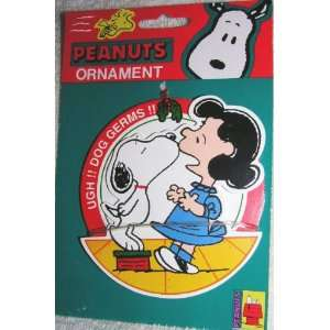 Peanuts 4 Snoopy Kissing Lucy Ugh!! Dog Germs