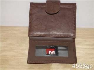 MUNDI LADIES SMALL GENUINE LEATHER TRIFOLD WALLET   NEW