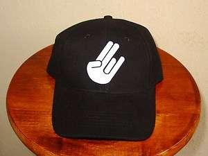 New SHOCKER Black Baseball Cap Hat Finger Flip Off