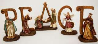 PEACE 6 inch Nativity Sign by Valerie Parr Hill