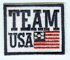 Team USA Flag Embroidered Applique Patch 3