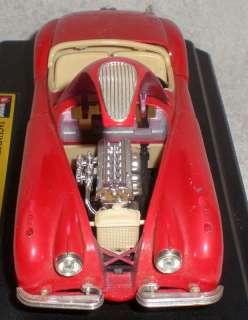 Model Cars Jaguar XK 120 Roadster 1948 Burago Metal Red Kit Car Class