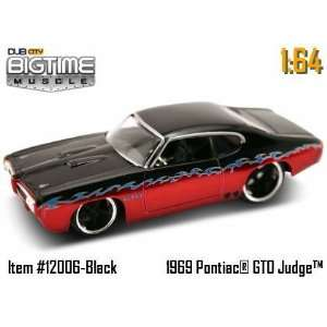 Red and Black 69 Pontiac GTO Judge 164 Die Cast Car Toys & Games