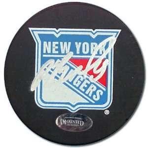 Pavel Bure Autographed New York Rangers Hockey Puck
