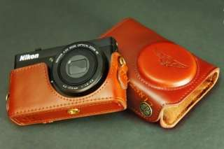 Genuine Real COW Leather case bag cover for Nikon P300 camera