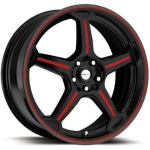 Focal F 01 18x8 Black Red Wheel / Rim 5x100 & 5x4.5 with a 42mm Offset