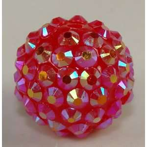 22mm Rhinestone Bead Ruby Red 8 Pieces Arts, Crafts & Sewing