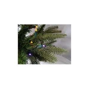 Pre Lit Slim Palisade Artificial Christmas Tree   Multi LED L