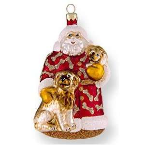 Glass Christmas Ornament, Santas Best Friends, Exclusive