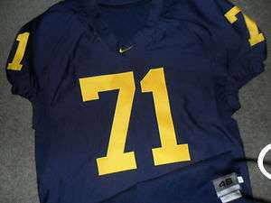Mark Ortmann 2009 Michigan Wolverines Nike Authentic Game Used Jersey