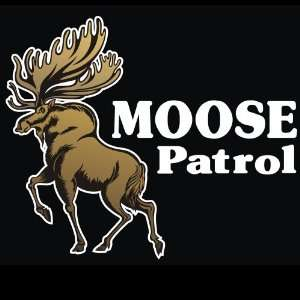 Hunting   Moose Patrol Decal for Cars Trucks Home and More